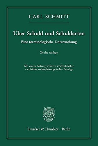 Über Schuld und Schuldarten.: Eine terminologische Untersuchung.