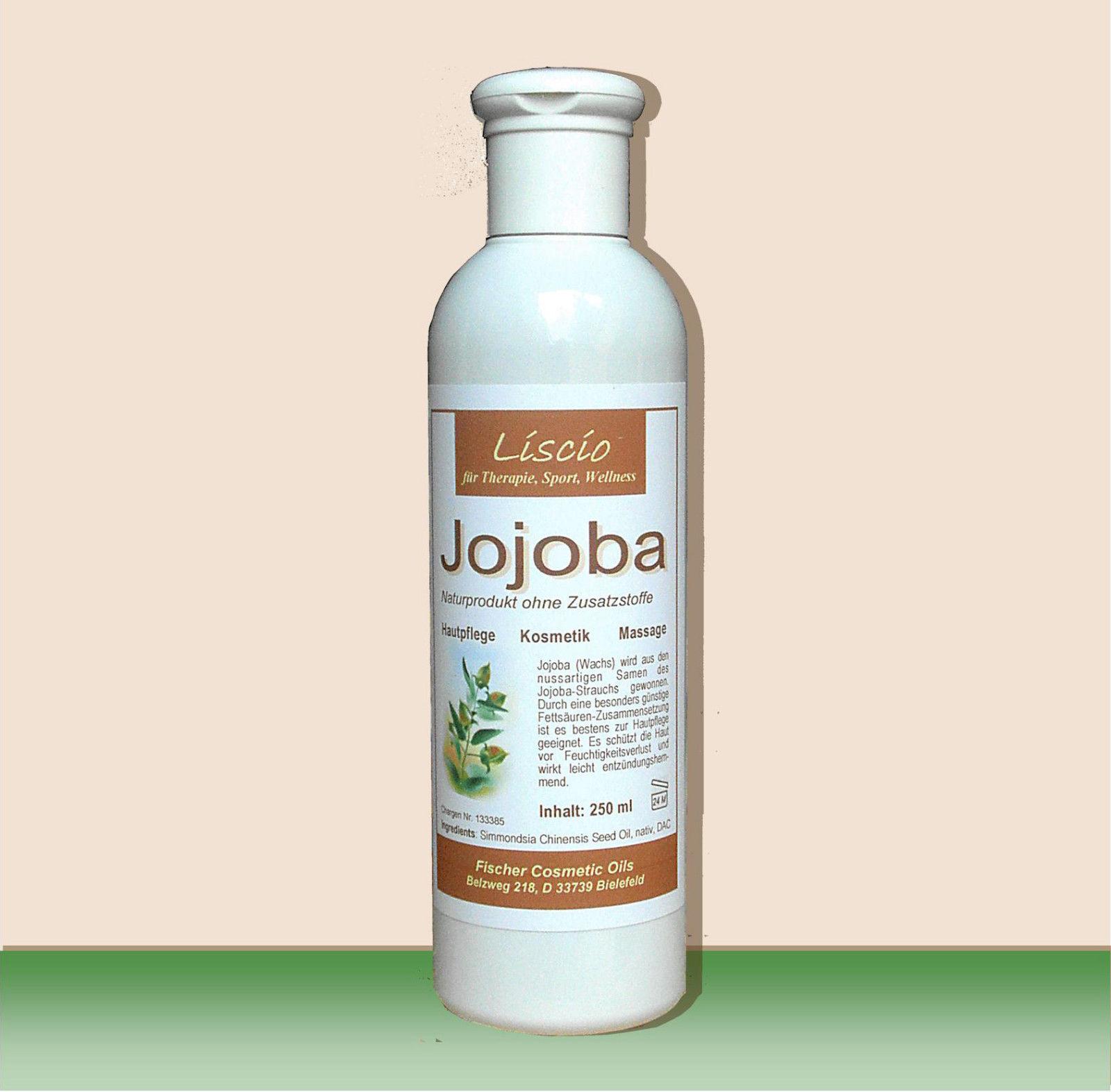 Jojoba Jojobaöl nativ kaltgepresst 250ml Naturprodukt in goldgelber DAC-Qualität