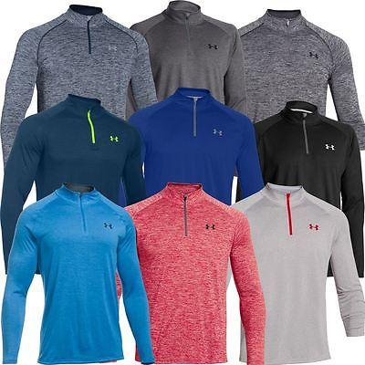 Under Armour UA Mens Novelty Tech 1/4 Zip Long Sleeve Top Layer Gym Shirt