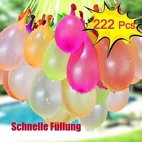 Wasserbombens, Roxenda Mehrfarbige Wasserballons Magic Swimming Pool Spielzeug Wesentlich wasserspielzeug für kinder im Sommer 222 wasserballons in 60 sekunden.
