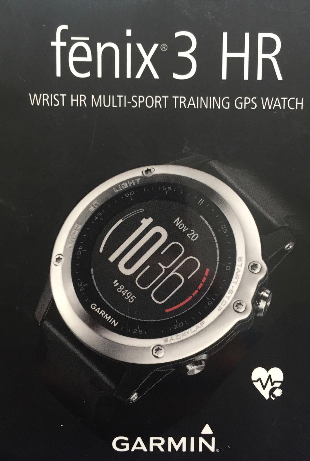 Garmin Fenix 3 HR Bluetooth Silber GPS-Multisportuhr inkl. 5 Armbändern