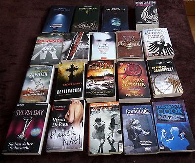 Spannendes Bücherpaket XXL Sammlung 19 Bücher Thriller Krimis  Urlaubslektüre !
