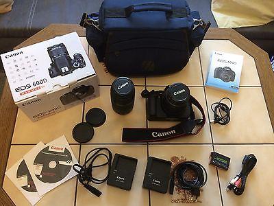 Canon EOS 600D 18.0 MP SLR-Digitale Spiegelreflex Kamera ( 2439 Auslösungen)