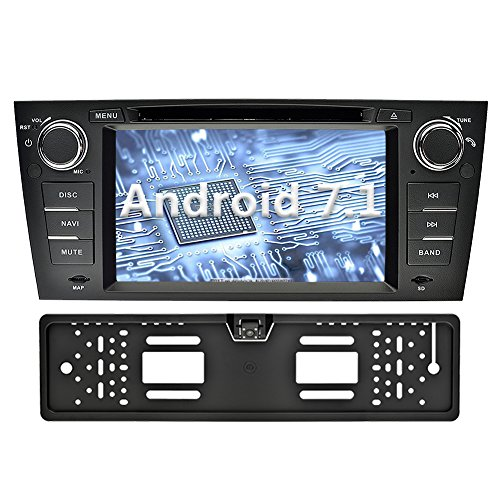 YINUO 7 Zoll 1 Din Android 7.1.1 Nougat 2GB RAM Quad Core Autoradio Moniceiver DVD GPS Navigation 1080P OEM Stecker Canbus Orange Farbe Tastenbeleuchtung für BMW 3 Series 2006 - 2011 E90 E91 E92 E93 2006 - 2011 Unterstützt DAB+ Bluetooth OBD2 Wlan (Autora
