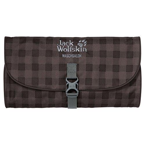Jack Wolfskin Unisex Kulturbeutel Waschsalon, mocca classic check, 48 x 32 x 5 cm, 1 liter, 86130-7913