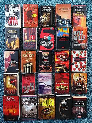 Bücherpaket 25 Krimis Thriller: Thiemeyer Feth Patterson Cussler French Cornwell
