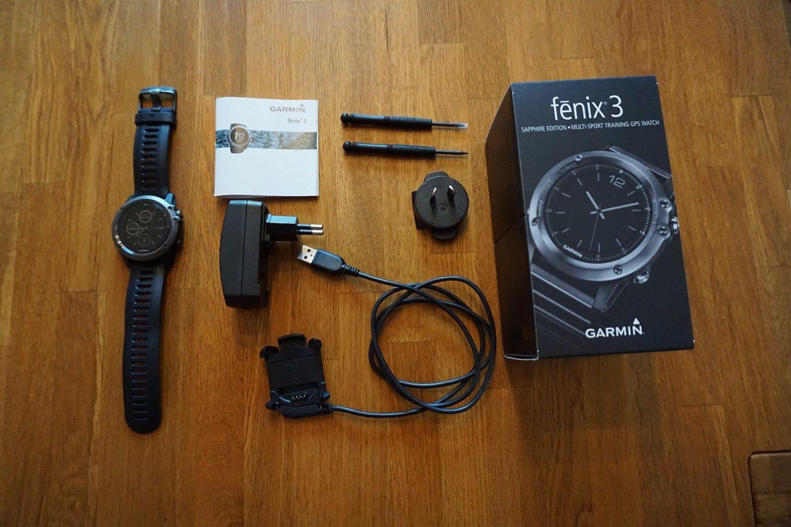 GARMIN Fenix 3 - SAPPHIRE EDITION - MULTI-SPORT GPS WATCH - saphire Edt. -