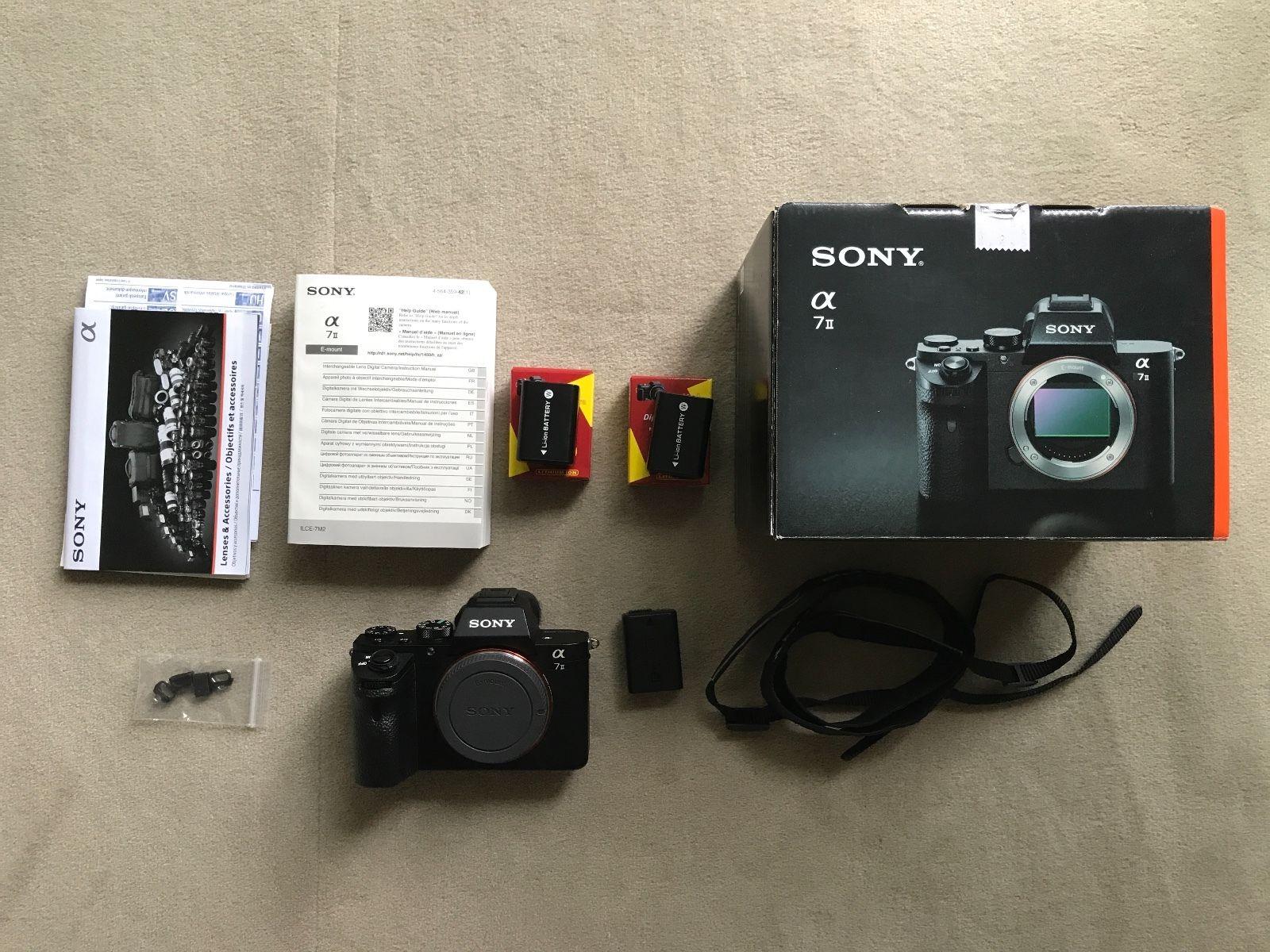 Verkaufe sehr gut erhaltene Sony Alpha 7 Mark II (a7 II) ILCE-7M2 24.3 MP Kamera