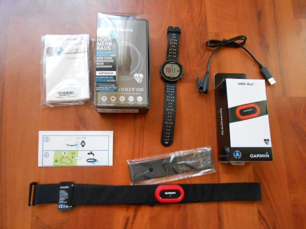 Garmin Forerunner 630 HRM Run Bundle Schwarz OVP wie neu GPS Sportuhr