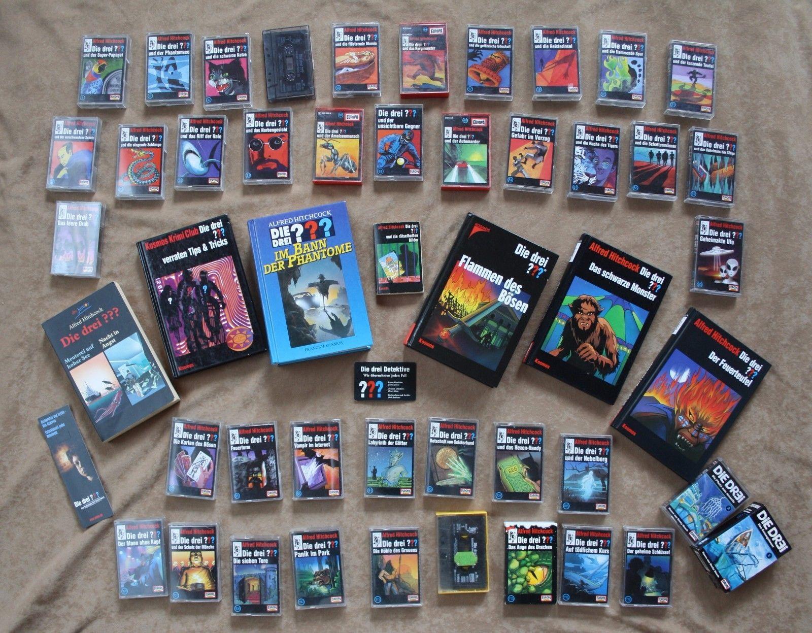 Großes Fanpaket Die drei ??? (Fragezeichen): Höspiel-Kassetten MCs & Bücher