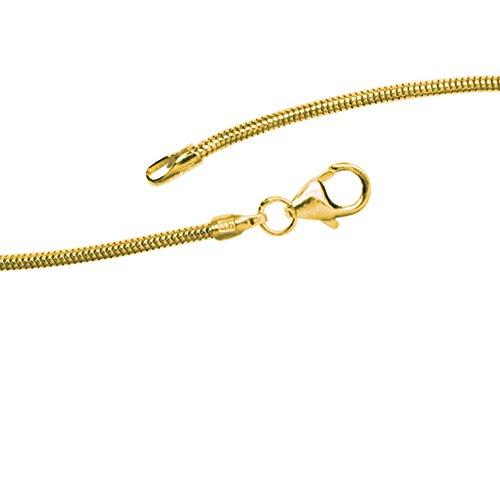 JOBO Schlangenkette 585 Gelbgold 1,4 mm 42 cm Gold-Halskette