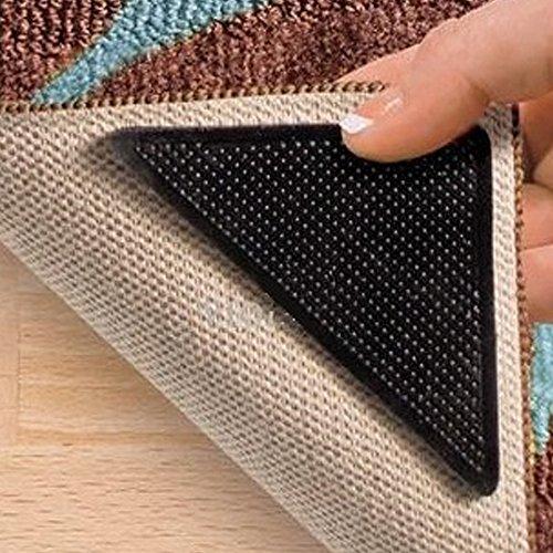 Anti-Rutsch-Ecken für Teppiche, 8-teiliges Set, wiederverwendbar