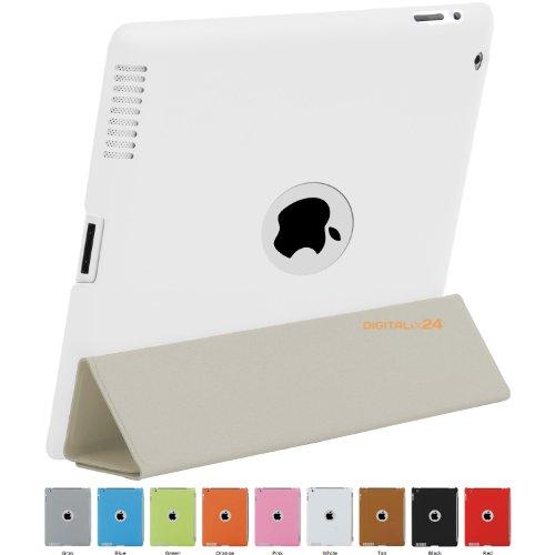HyperShield Leather Logo Back Cover for iPad 2 HS3-WHITE WEISS Schutzhülle für Apple iPad 2 Rückseite mit Echtleder-Oberfläche und Logo-Ausschnitt iPad2 Hülle Case