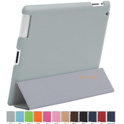 HyperShield Snap-On Back Cover für Apple iPad 2 Rückseite (HS2-GRAY / GRAU). Schutzhülle für Rückseite des Apple iPad 2. Case Hülle für iPad2 Rückseite. Kompatibel mit SmartCover.
