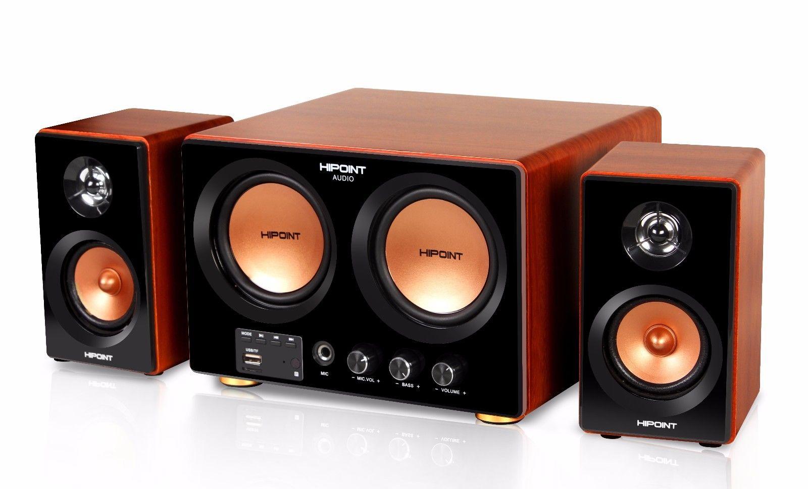 HIPOINT AUDIO 2.1 SURROUND SOUND SPEAKER SYSTEM WITH BLUETOOTH USB & REMOTE