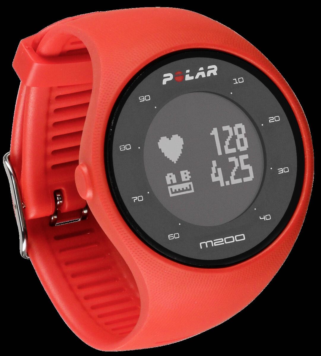 Polar M200 Outdoor Fitnessuhr Fitness- und Activity Tracker M/L GPS-Laufuhr rot