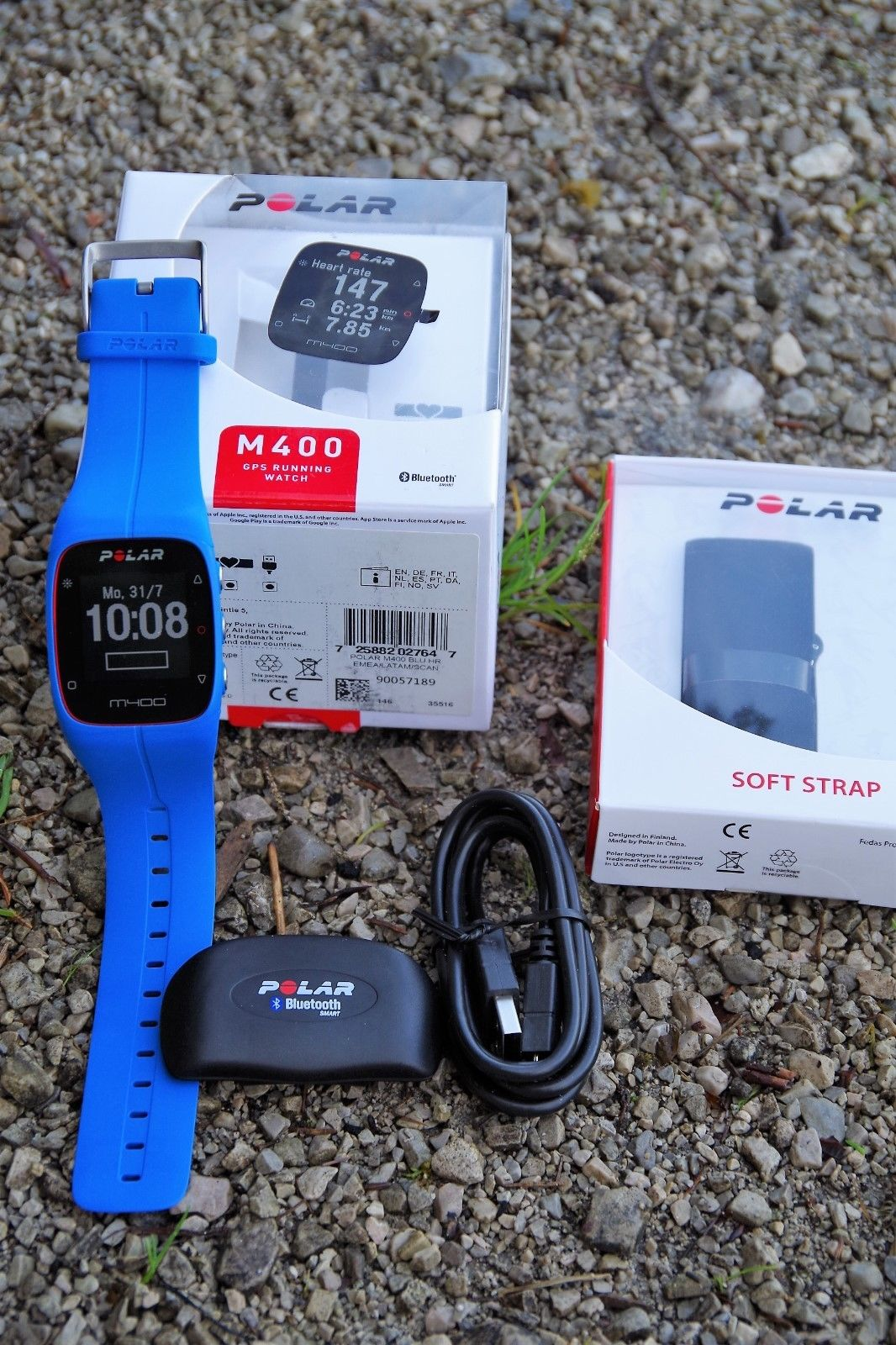 Polar Laufuhr M400 – blau – OVP – Brustgurt neu -