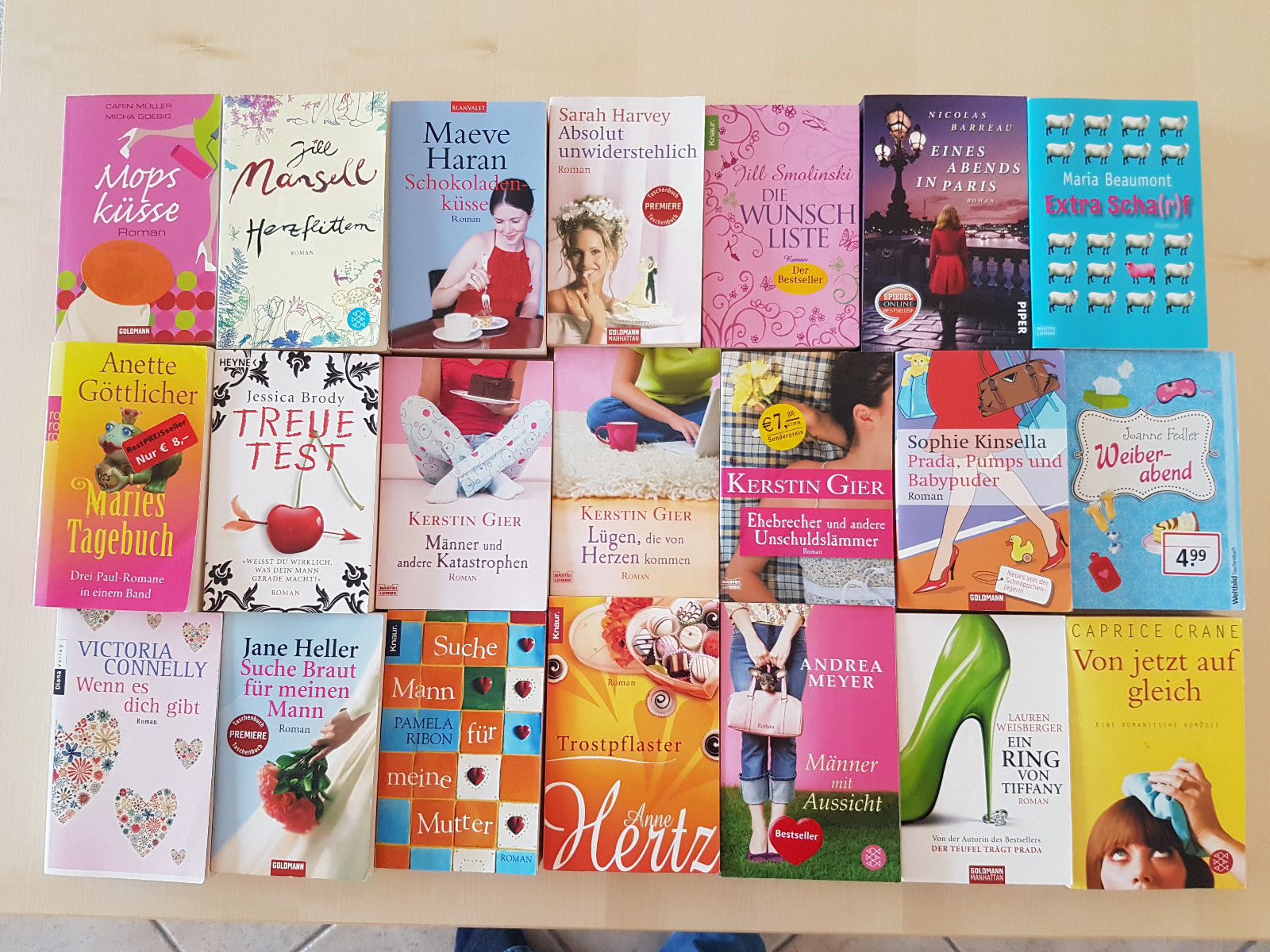 Bücherpaket 21 Frauenromane Kerstin Gier, Anne Hertz, Weiberabend, Treuetest uvm