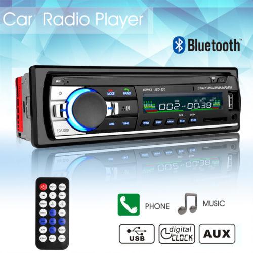 AUTORADIO MIT BLUETOOTH FREISPRECH-EINRICHTUNG USB SD AUX IN MP3 WMA 1DIN