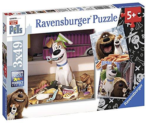 Ravensburger Puzzle 09413 - Spaß allein zu Hause, 3x 49-teilig