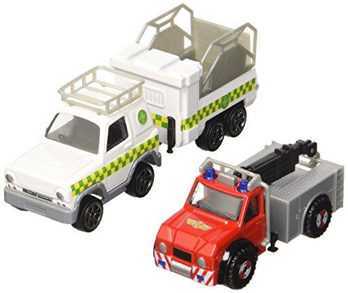 Dickie Toys 203099629 - Feuerwehrmann Sam 3 Pack, Set mit 3 verschiedenen Metallfahrzeugen