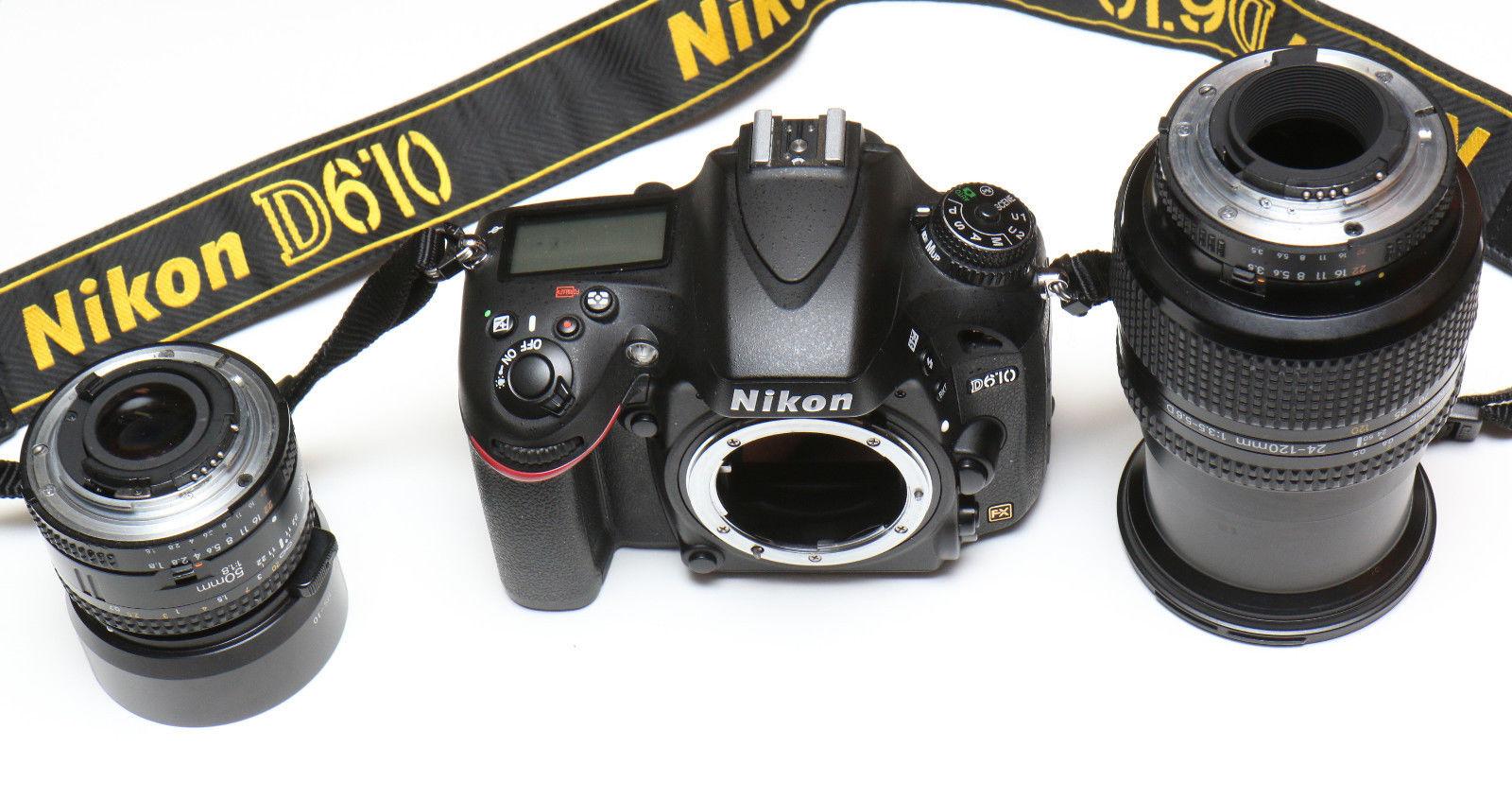 Nikon  D610 24.3 MP SLR-Digitalkamera Schwarz  Kit mit 24-120 3,5/5,6 + 50/1:1,8