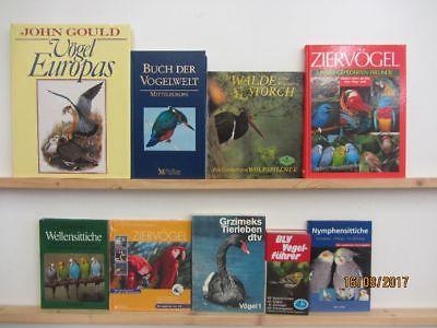 54 Bücher Bildbände Vögel Vogelkunde Ziervögel Vogelwelt Vogelführer