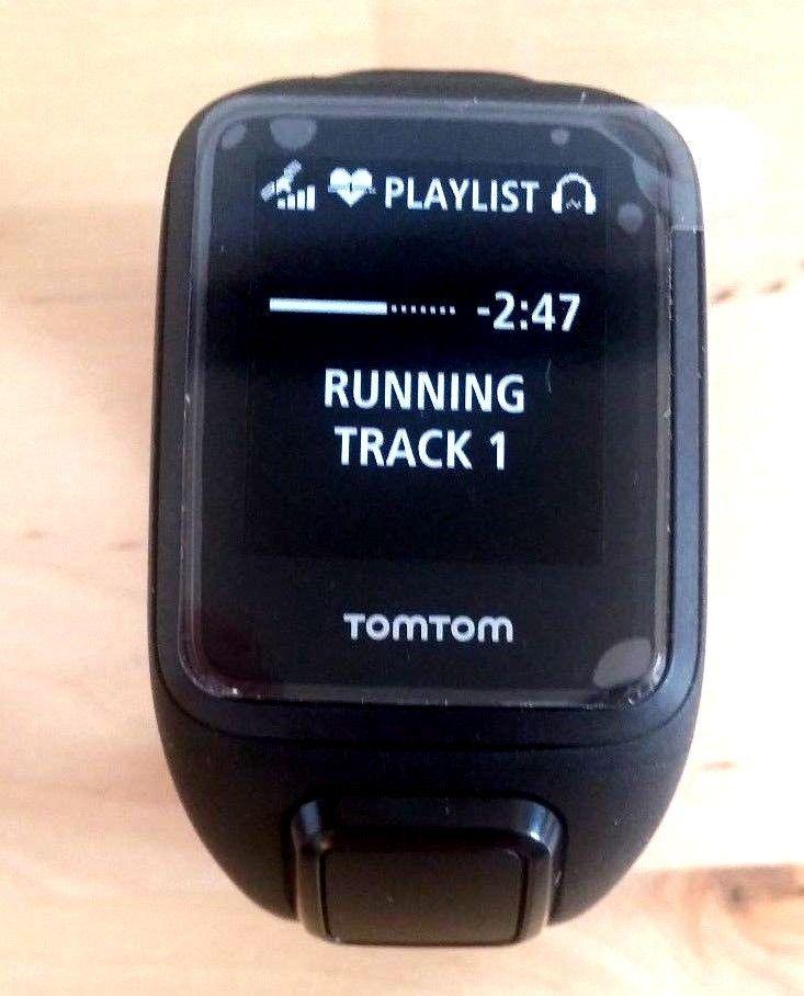 TOM TOM Spark 3 Cardio Music Kopfhörer in Größe S schwarz mit Garantie sehr gute
