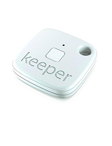 Gigaset keeper Schlüsselfinder (Bluetooth LE 4.0, Keytracker mit Signalton u. LED-Licht zum Auffinden von Schlüssel, Tasche, Koffer, Smartphone) weiß
