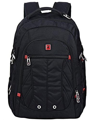 Swisswin Multifunktionsrucksack 15.6 zoll Rucksäcke Daypacks Notebookrucksack business Computer rucksack laptop Notebook für laptop kinder damen herren schwarz (sw8110i)