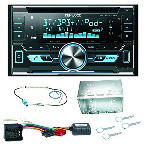 Kenwood DPX-7000DAB Bluetooth DAB USB MP3 CD AUX Autoradio Einbauset für Fox Polo 9N3