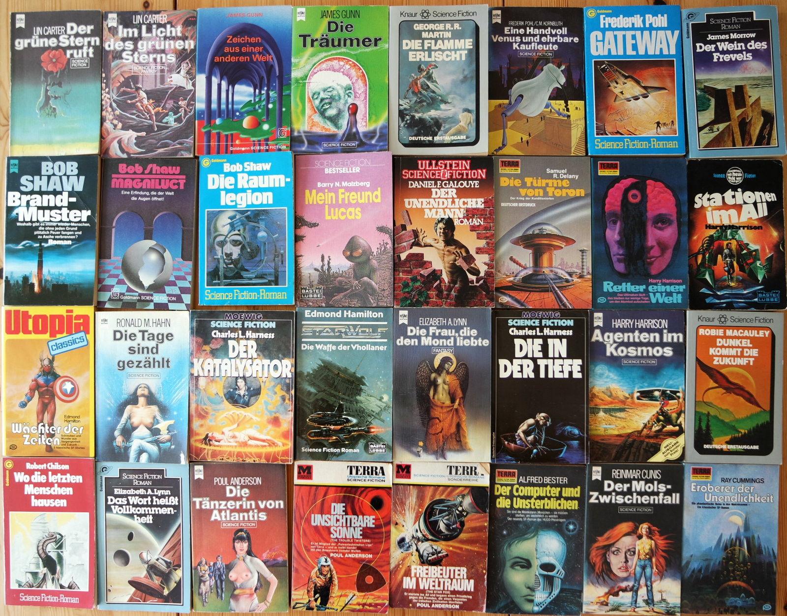 32x Science Fiction Romane Sammlung - Buchpaket 6