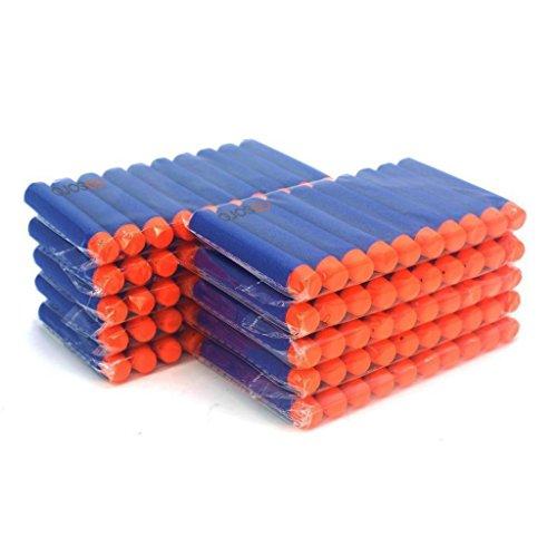 Ennrui 100er Kids Geschenk Spielzeug Waffe 7.2cm Blau Dart Nachfüll-Pack für NERF N-Strike Elite Blaster ELITE Waffen