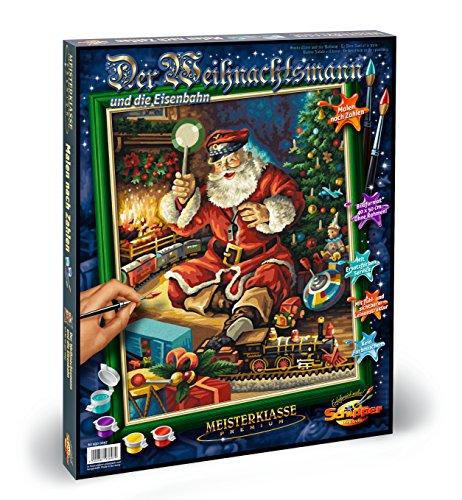 Noris 609300697 - Weihnachtsmann und Eisenbahn