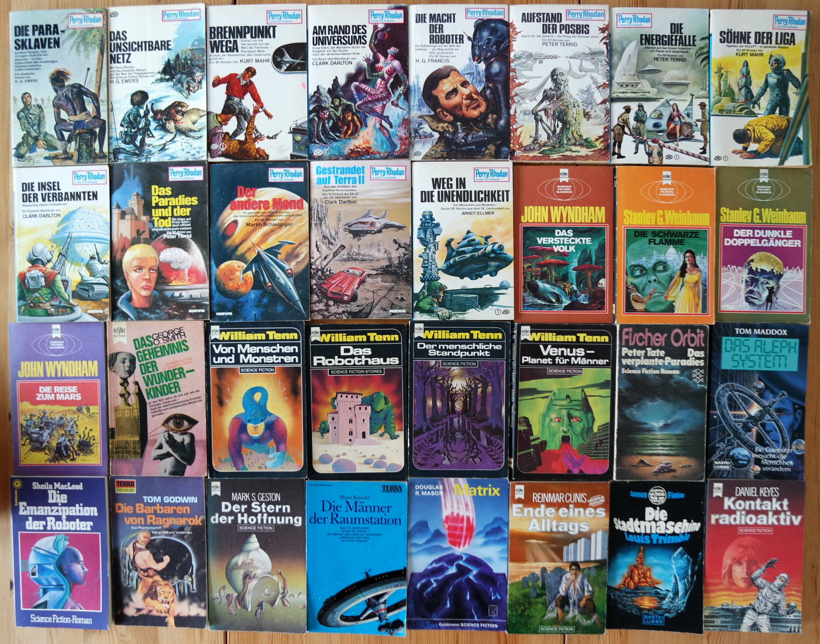 32x Science Fiction Romane Sammlung Buchpaket 10 Perry Rhodan, Heyne etc.