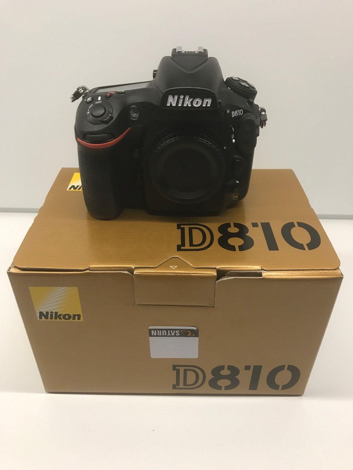 Nikon D810 36.3MP Digitalkamera-Schwarz-OVP & top Zustand (Köln) nur 7600 Fotos!