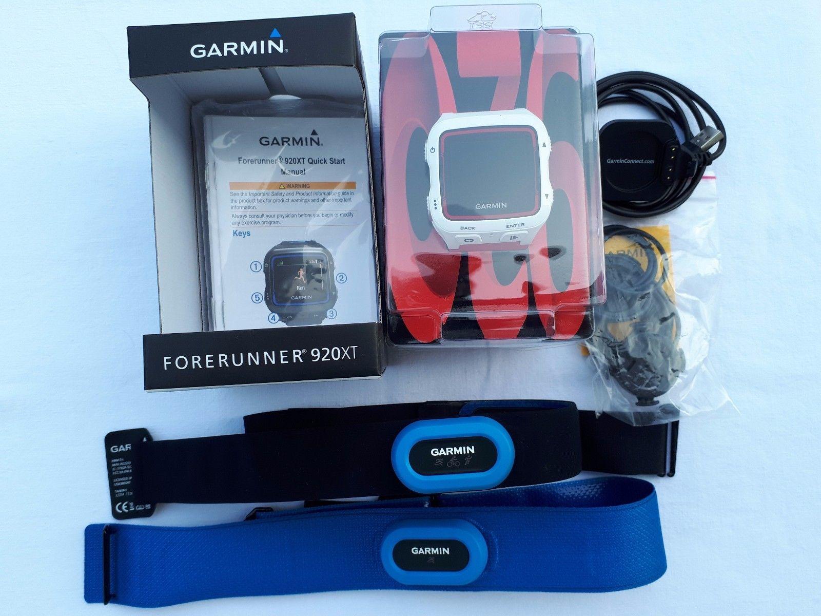 GARMIN FORERUNNER 920 XT TRIATHLON SPORT WATCH GPS UHR + HRM-Tri und HRM-Swim