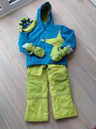 Jako-o Schneeanzug Skijacke + Skihose + Handschuhe + Mütze, Gr. 116/122
