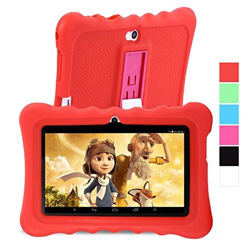 GBtiger L701 Kinder PC Tablet 7 Zoll (Android 4.4 Quad-Core 1,3 GHz, 512 MB RAM + 8GB ROM, HD-Auflösung von 1024 x 600, WiFi, GPS, Bluetooth) (Schwarz, Rot)
