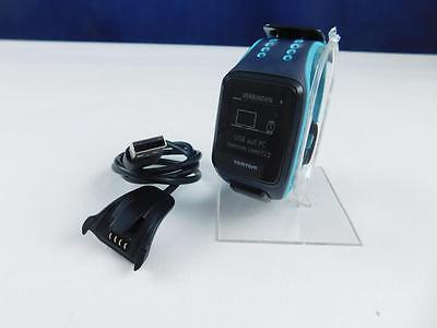 TomTom Runner 2 Cardio + Musik GPS Uhr Aktivitätentracker Blau Gr.L