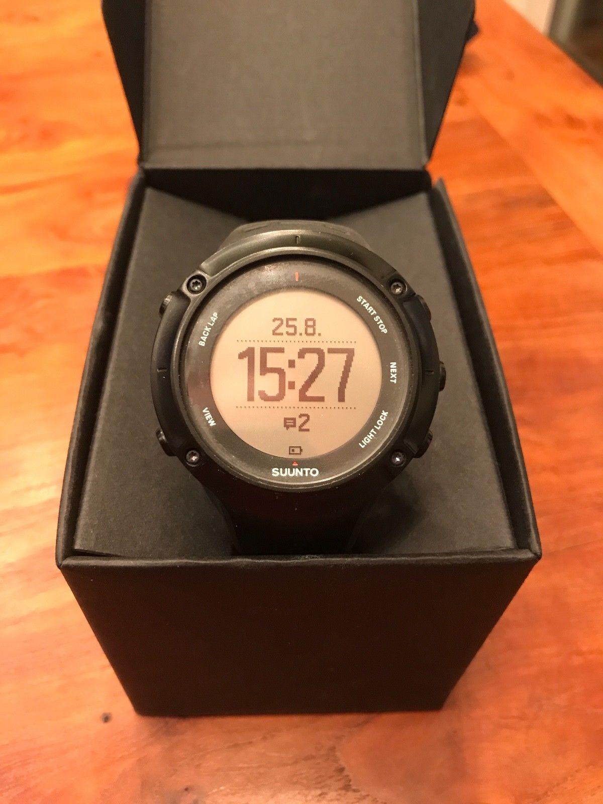 Suunto Ambit 3 Peak Black HR - GPS Uhr mit Pulsmesser - Top Zustand