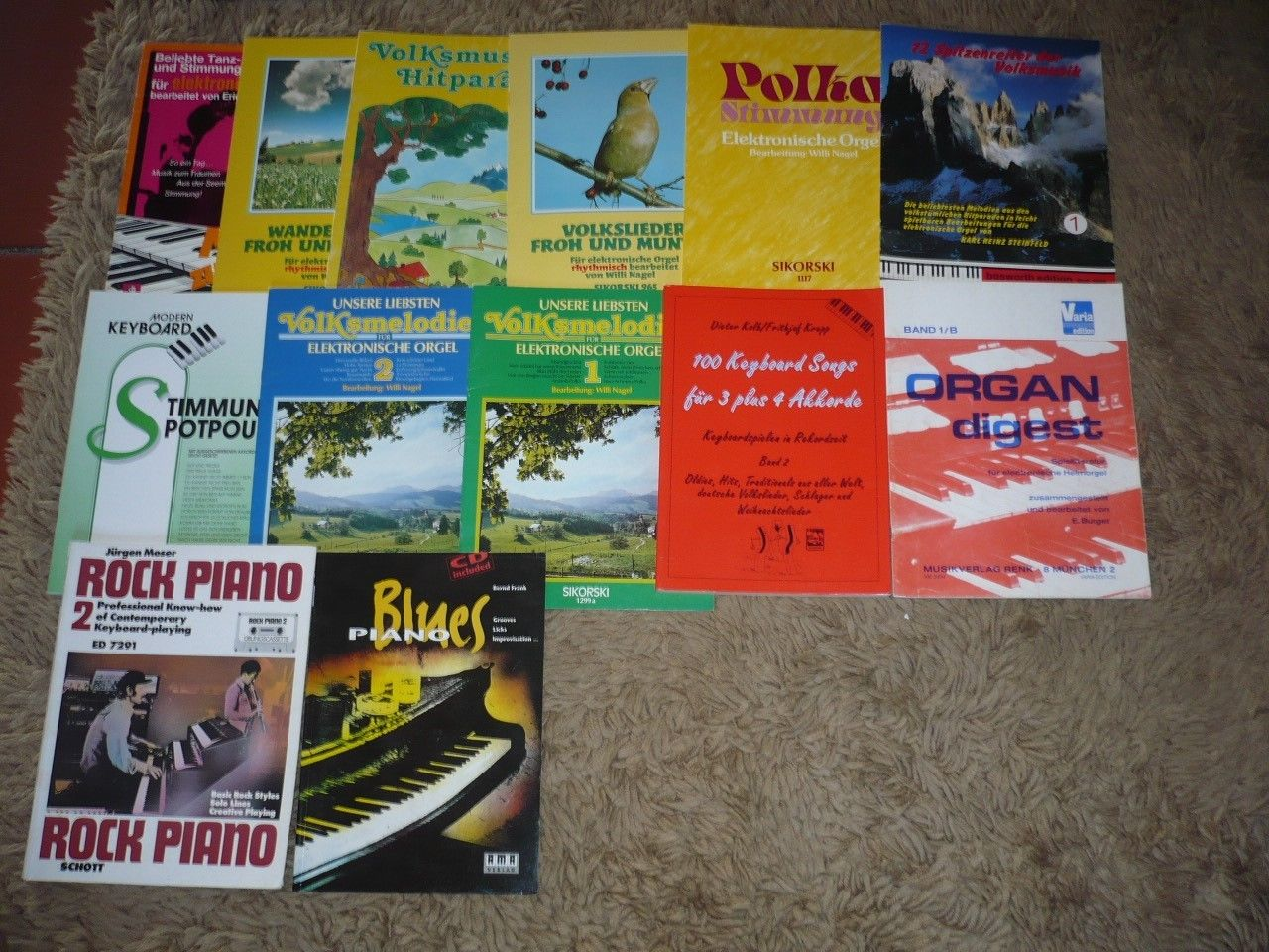 Bücherpaket 27 St. Keyboard, elektr. Orgel, Musikschule, Noten, Spielanleitungen
