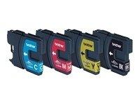 Brother LC-980 Original Tintenpatronen Value Pack (schwarz, gelb, cyan, magenta) für verschiedene Brother MFC- und DCP-Drucker