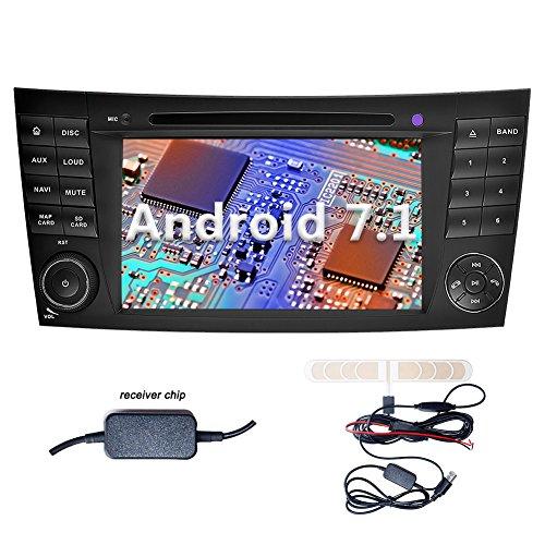 YINUO 7 Zoll 2 Din Android 7.1.1 Nougat 2GB RAM Quad Core Autoradio Moniceiver DVD GPS Navigation 1080P OEM Stecker Canbus Orange Tastenbeleuchtung für Mercedes-Benz E-W211/E200/E220/E240/E270/E280(2002/03-2008),CLS-W219/CLS350/CLS500/CLS55(2005-2006),CLK
