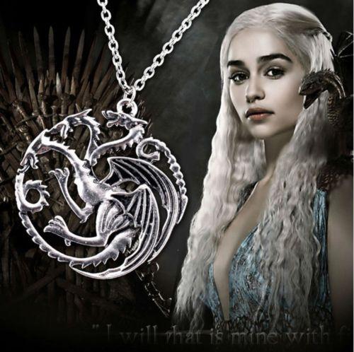 Game of Thrones Halskette Targaryen Drache Wappen Fire and Ice CS