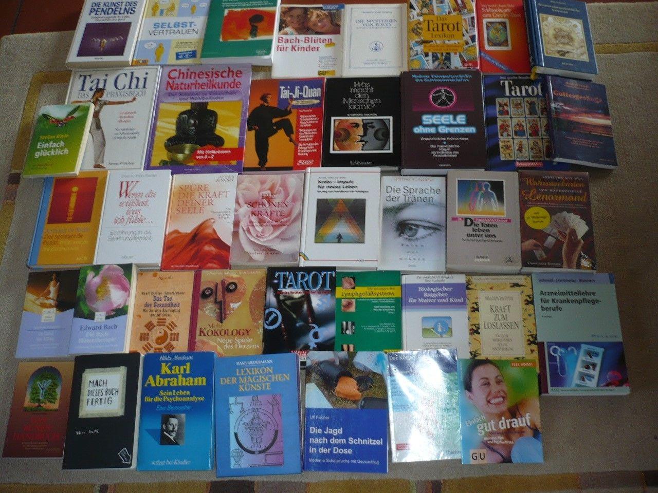 Bücherpaket 40 Stück Esoterik, Tai Chi, Tarot,  Gesundheitsratgeber, Wahrsagen
