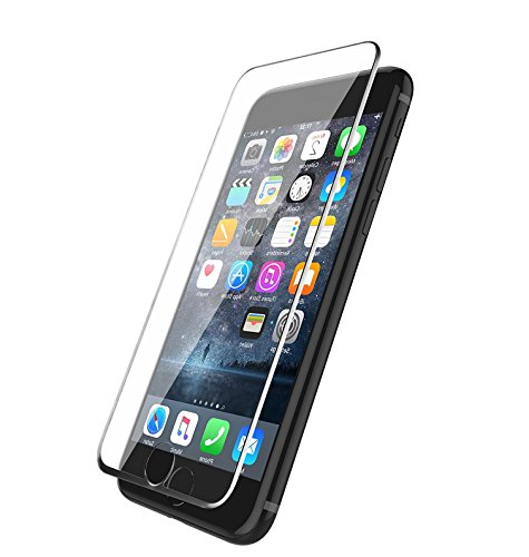 PhoneStar iPhone 7 Plus Panzerglas [FULL COVER] Screen Protector Panzerglas [abgerundete Kanten] 0.25mm Displayschutz [3D-Touch] Silikon Edge