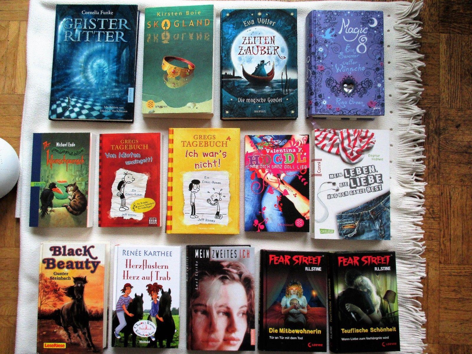 Bücherpaket Jugendbücher 14 Bücher Gregs Tagebuch/Kirsten Boie/Cornelia Funke...