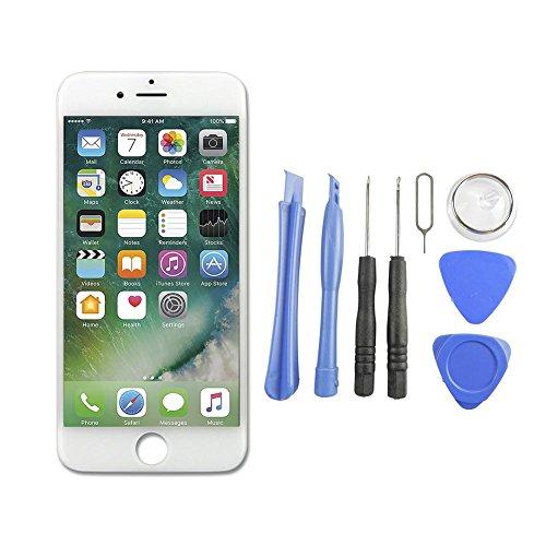 Anderw iPhone 6 LCD Display Reparaturset Ersatz Touchscreen Bildschirm Komplettset mit Werkzeuge (Weiss)