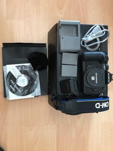 Olympus OM-D E-M1 16.0MP Digitalkamera - Schwarz (Nur Gehäuse)